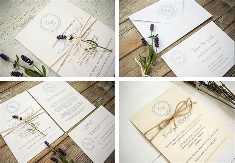 Wedding Invitations Lavender by Lavender Rustic Lavender Wedding Invitation