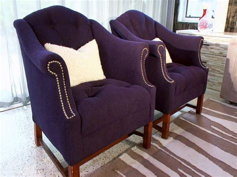 Navy Living Room Chair by Purple Tufted Armchairs Hgtv