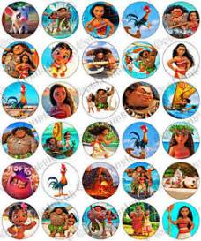 30 x moana party collection edible rice wafer paper cupcake toppers ebay