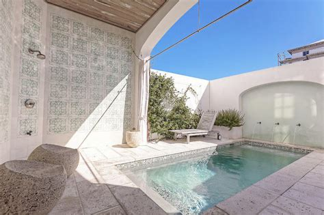 Modern Cottage Design moroccan style pool cottage pool