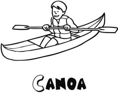 barco animado blanco y negro dibujos de una canoa para colorear por los ni 241 os