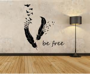 Wall Stickers Designs Feathers Turning Into Birds Vinyl Wall Decal Sticker Art Decor