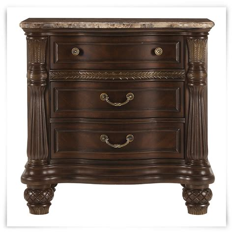 Marble Nightstand by City Furniture Tradewinds Tone Marble Nightstand
