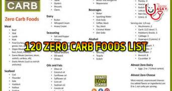 120 zero carb foods list the doctor asky