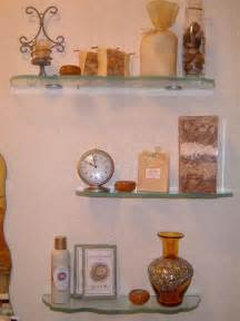 Glass bathroom shelves that require decoration home interior design