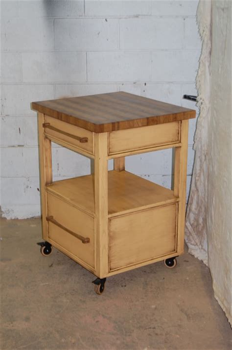 rolling butchers block traditional kitchen islands and