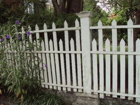 antique art garden original  wood picket fences