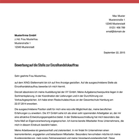Anschreiben Bewerbung Muster Für Bürokauffrau Anschreiben Oswald Bewerbung Co