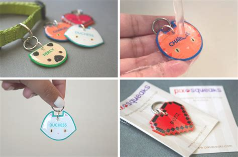 Handmade Pet Tags - handmade novelty pet tags from pixsqueaks milk