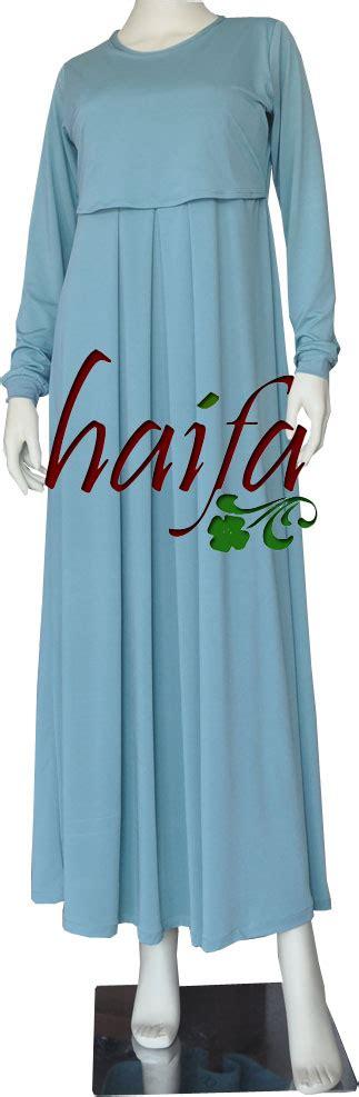 Baju Gamis Busui Nida Set bukaan khusus menyusui gamis jersey haifa rumah jahit haifa