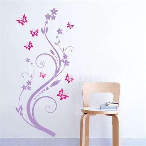 flowers and butterflies wall stickers wall decals butterflies and flowers 28 images vinyl wall decals wall sticker butterfly and