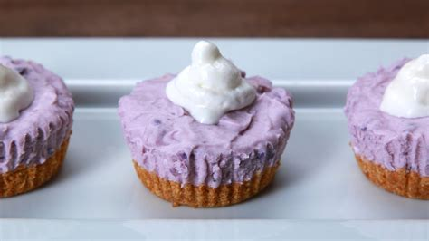how to cook purple yam in the oven how to make these mini no bake ube cheesecakes