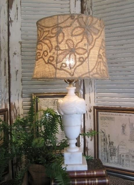 Ideas Design For Burlap L Shades Diy Lace And Burlap Lshade Crafty Ideas Organizers Pinterest