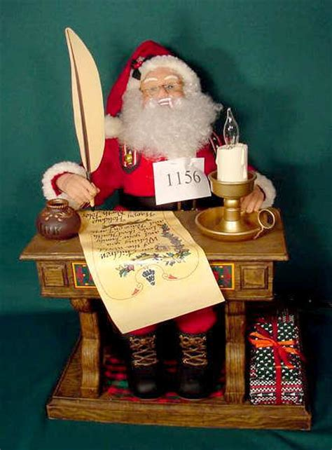 1156 animated santa doll 1993 creations inc nr lot 1156