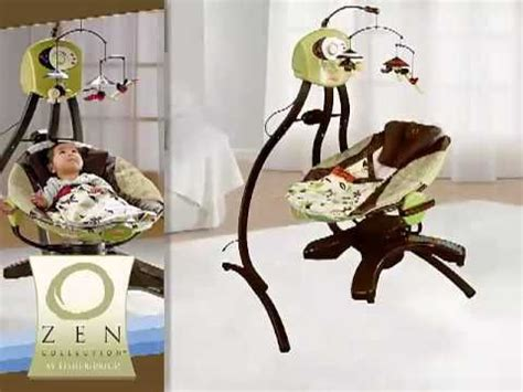 fisher price cradle swing stopped swinging fisher price zen collection cradle swing youtube