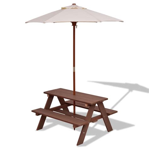 toddler picnic table with umbrella outdoor 4 seat kid s picnic table bench with umbrella