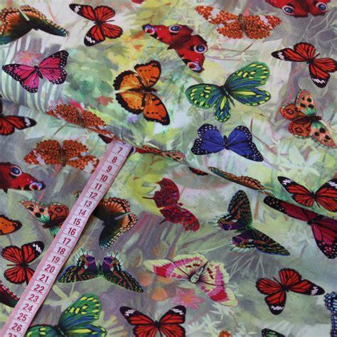 Digitaldruck Jerseystoffe by Jersey Stoff Digitaldruck Bunte Schmetterlinge Kaufen