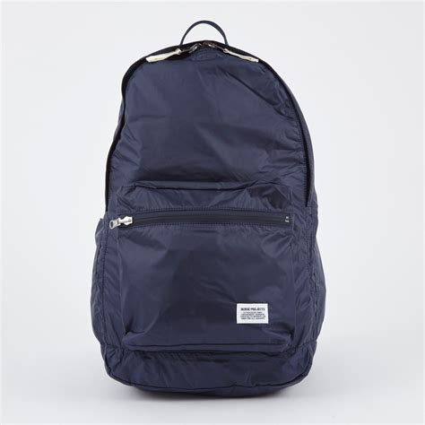 norse projects louie day pack light ripstop bag navy