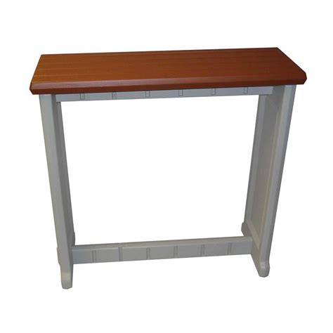 Plastic Bar Table Shop Confer Plastics Patio Essentials 12 In W X 36 In L Rectangle Plastic Bar Table At Lowes