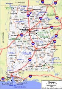 free printable maps state of alabama road map printfree