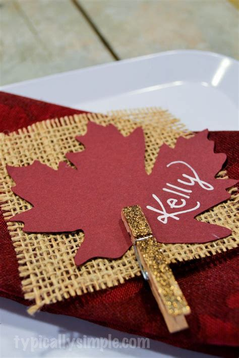 25 best ideas about thanksgiving place cards on pinterest
