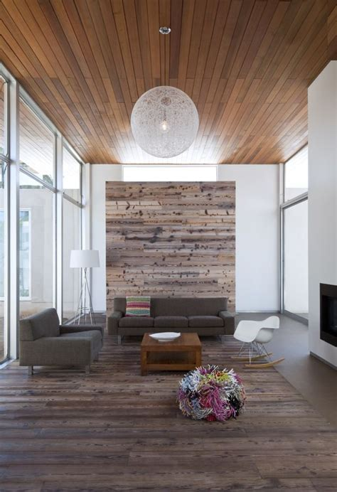 reclaimed wood accent wall spaces pinterest