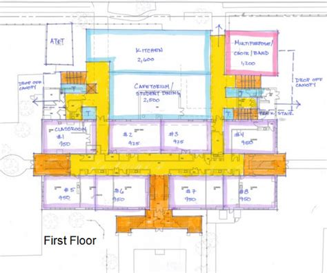 school cafeteria floor plan expansion of audubon charter begins to take shape uptown