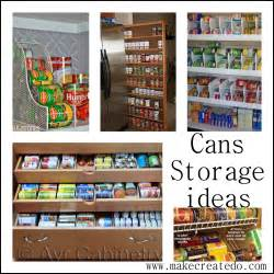 food cans storage ideas in the pantry make create do