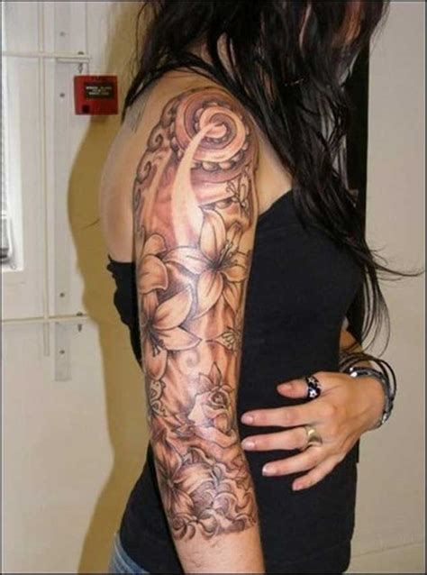 womens sleeve tattoo designs 30 fabulous floral sleeve tattoos for tattooblend