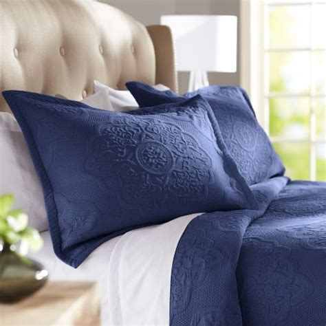 Navy Blue Bedspreads And Coverlets Pinzon Elizabeth Matelasse Coverlet King Navy Your 1