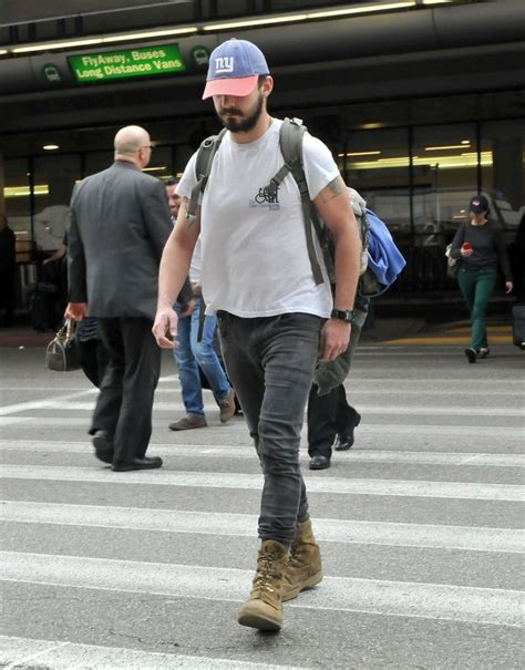 Lands In Los Angeles by Shia Labeouf Photos Photos Shia Labeouf Lands In Los