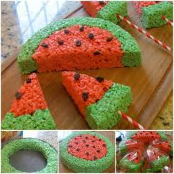 creative ideas diy watermelon rice krispies