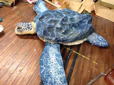 How To Make A Paper Mache Turtle - paper mache sea turtle work sea turtles