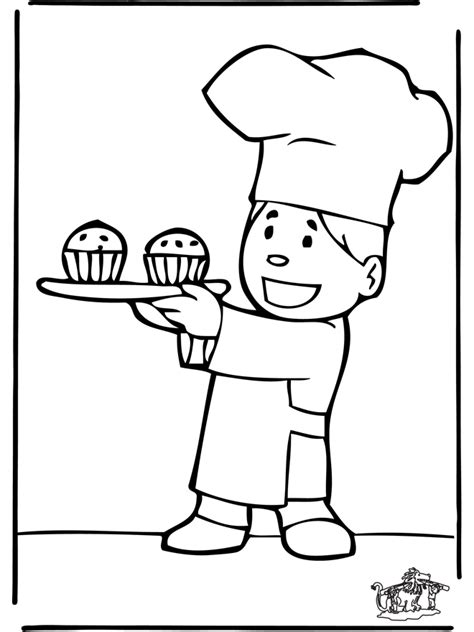 FunnyColoringcom / All Sorts Of The Baker 5 sketch template