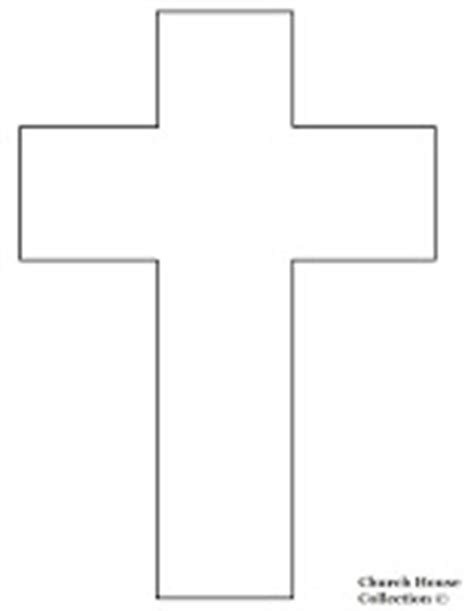 cross template church house collection jesus died on a cross cutout