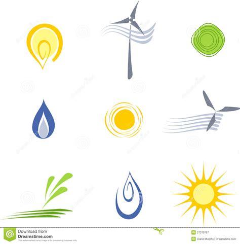 design elements radiation vector sustainable energy elements royalty free stock