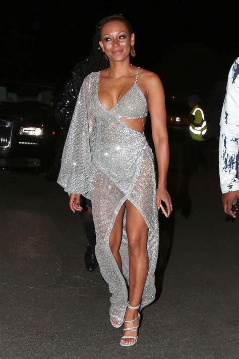 Mel Dress mel b wears transparent dress shows cleavage