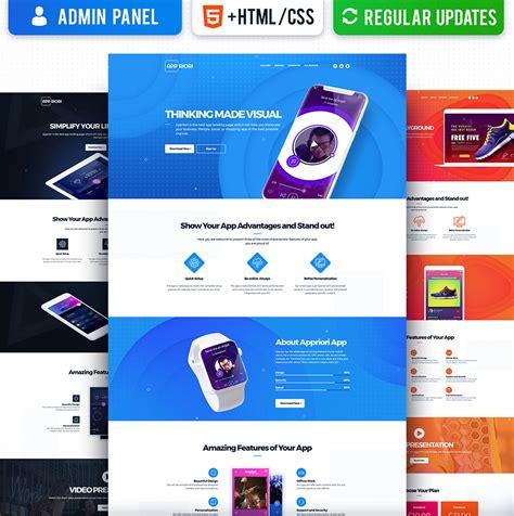 Appriori Multipurpose Mobile App Landing Page Template 66377 Mobile App Landing Page Template