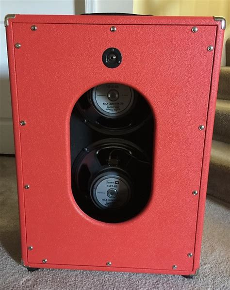 redplate custom 2 12 vertical speaker cabinet celestion