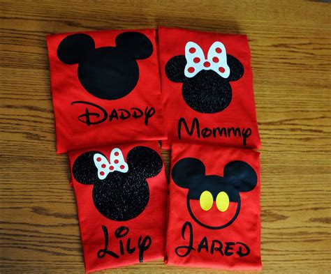 Handmade Disney Shirts - custom disney family matching shirts mickey mouse by
