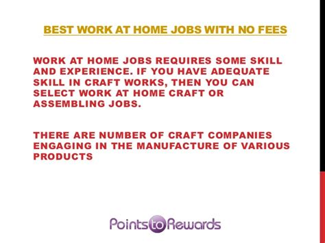 best work at home with mo fees