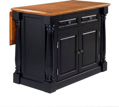 black distressed kitchen island monarch island black and distressed oak finish