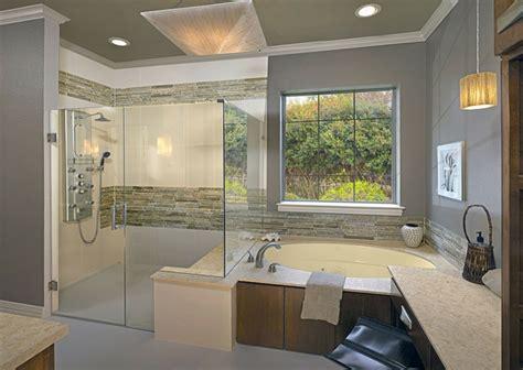 kabine badezimmerideen naturstein bad gestaltung ideen holz badewanne