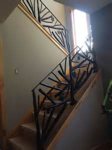tree branch banister custom made tree branch metal railing by decorative metal