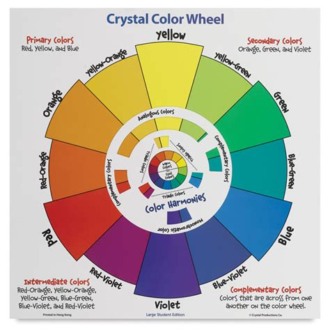 productions student color wheel poster blick materials