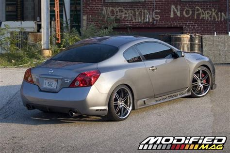 nissan altima custom rims 2008 nissan altima coupe modified magazine