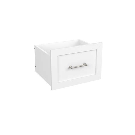closetmaid elite 9 3 4 in drawer in white 3727 the home