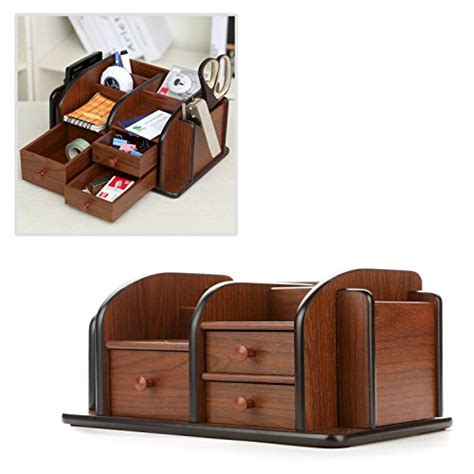 office supplies desk organizer mygift drawer organizers brown wood office