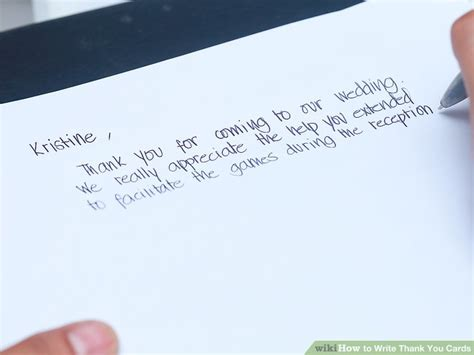 How To Write On Gift Card - how to write thank you cards 9 steps with pictures wikihow what to write on thank you