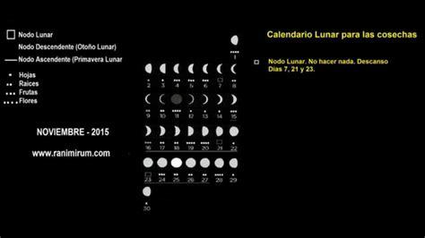 Calendario Lunar Noviembre 2015 Noviembre 2015 Calendario Lunar Para Las Cosechas